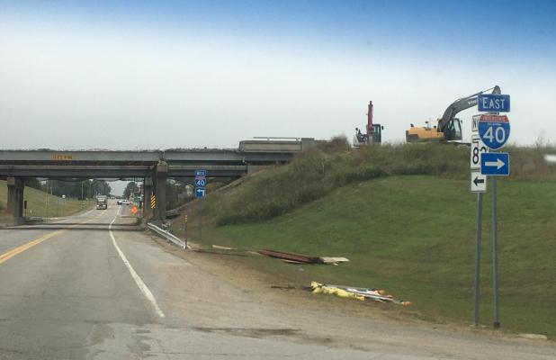 I-40 Bridge under replacement project
