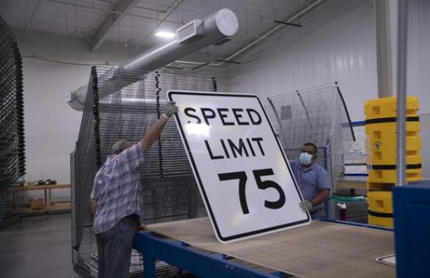 Speed Limit Increases on segments of I-40