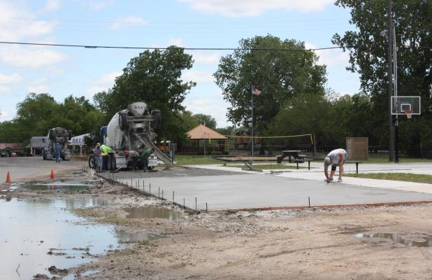Progress on downtown Basketball Court Continues