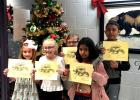 Vian Elementary fourth grade Students of the Month for November and December were, front row, from the left, Kye Barnes, Brynn Barnoskie and Havannah Silos. Back row, Katelyn Carlton and Leland Tehee.