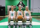 Lady Pirate basketball seniors this season are (from left) Taylor Short, LeeAnna Barnes and Abbi Ray. Lea Lessley | NEWS