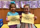 Vian Elementary Pre-K/Head Start Student of the Month for December was Lakelyn Darnell, left, and Eliza Madsen, right, was November's Student of the Month.