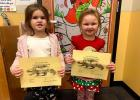Vian Elementary Pre-K/Head Start Student of the Month for December was Aspin Fisher, left, and Maci Sanford, right, was November's Student of the Month.