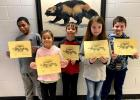 Vian Elementary third grade Students of the Month for November and December were, from the left, Amos Wright, Raylan McEver, Kalvin Andrade, Sophia Wastradowski and Axl Branham.